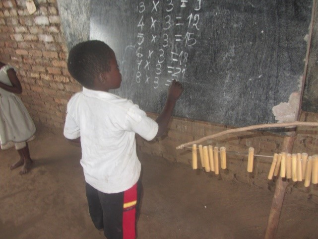"Lonjezo has always had a dream saying ""When I grow up I want to be a teacher so that I can also teach other children how to count and write"""